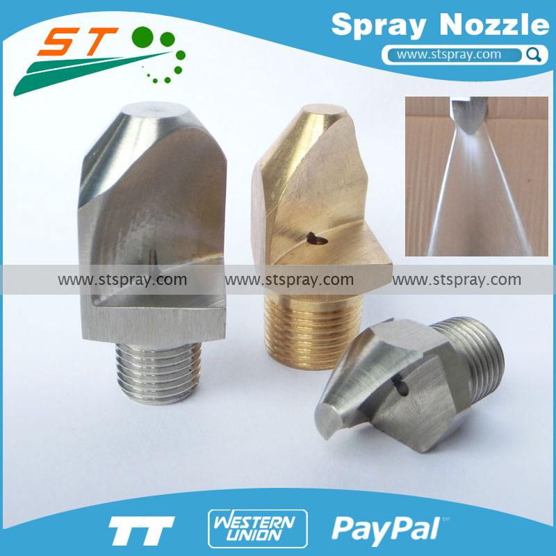 Narrow angle flat nozzle spray nozzles